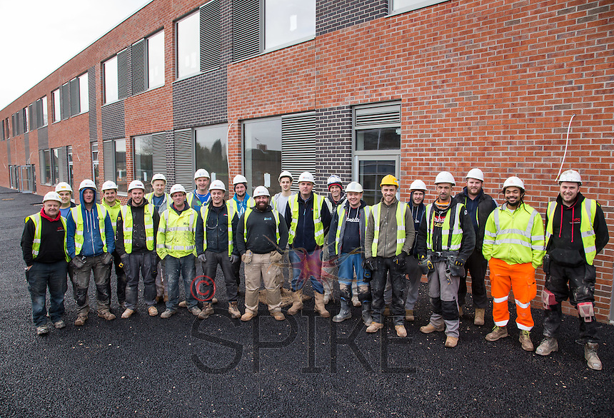 Kier staff and contractors at Wainwright Academy, Mansfield