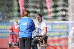 IPC European Athletics Championship 2014<br /> Daniela Todorova (BUL)<br /> Women's discus throw F55<br /> Swansea University<br /> 19.08.14<br /> ©Steve Pope-SPORTINGWALES