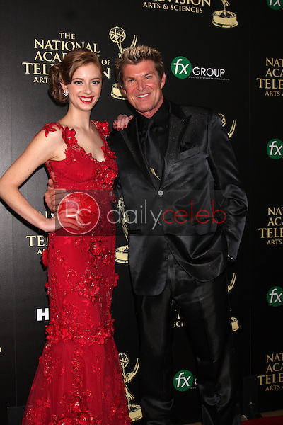LOS ANGELES - JUN 22:  Ashlyn Pearce, Winsor Harmon at the 2014 Daytime Emmy Awards Arrivals at the Beverly Hilton Hotel on June 22, 2014 in Beverly Hills, CA