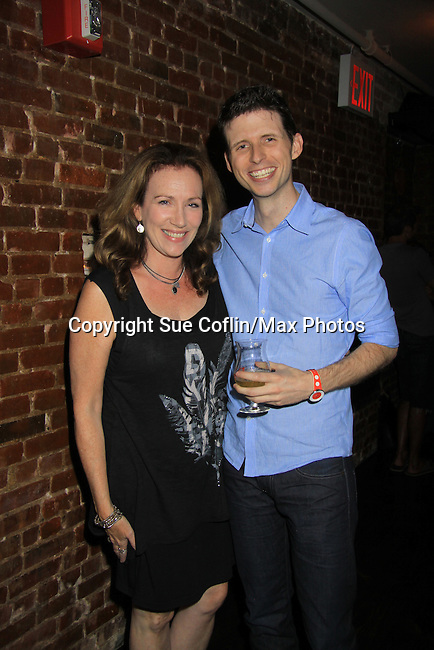 Kathryn Neville Browne and Nick Lewis (cast members) at Empire The Series cast & crew get together to see the newest episode on August 28, 2012 at Smithfields in Chelsea, New York City, New York.  (Photo by Sue Coflin/Max Photos)
