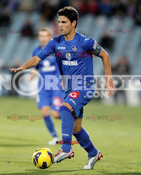 Getafe's Jaime Gavilan during La Liga match.November 18,2012. (ALTERPHOTOS/Acero) NortePhoto