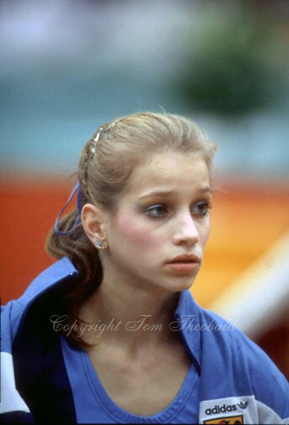 October 23, 1983; Budapest, Hungary; Portrait of artistic gymnast Yvonne Haug of West Germany photographed at 1983 World Championships in Budapest..(©) Copyright 1983 Tom Theobald
