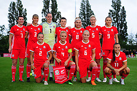 Wales Women's' team photo  during the Women's International Friendly match between Wales and New Zealand at the Cardiff International Sports Stadium in Cardiff, Wales, UK. Tuesday 04 June, 2019