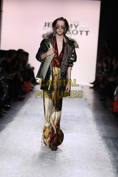 JEREMY SCOTT<br /> New York Fashion Week FW 17 18<br /> in New York, USA February 10, 2017.<br /> CAP/GOL<br /> &copy;GOL/Capital Pictures
