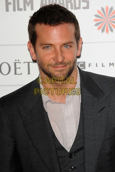 Bradley Cooper .The 14th Moet British Independent Film Awards 2011, Old Billingsgate, London, England..December 4th, 2011.headshot portrait white shirt black tie suit grey gray beard stubble facial hair.CAP/CJ.©Chris Joseph/Capital Pictures.