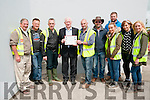 Lixnaw Vintage Rally : Pictured at the Lixnaw Vintage Rally on Sunday last where a presentation was made to Thomas McElligott for his years of service to the Lixnaw Vintage Rally committee. L- R : Danny McElligott, Michael O'Connell, John Griffin, Thomas McElligott, John Goggin, John Foley, Nollaigh McCarthy, Paddy Lyne, Sandra Lynch & Marion Lyne.