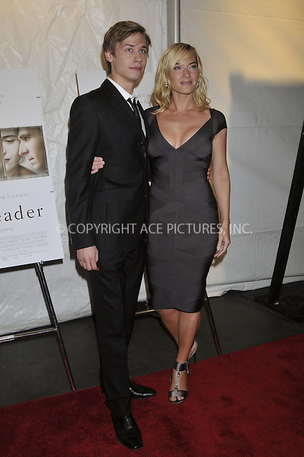 WWW.ACEPIXS.COM . . . . .  ....December 3, 2008. New York City.....Actors David Kross and Kate Winslet attends 'The Reader' premiere held at the Ziegfeld Theatre December 3, 2008 in New York City.  ......Please byline: AJ Sokalner - ACEPIXS.COM.... *** ***..Ace Pictures, Inc:  ..Philip Vaughan (646) 769 0430..e-mail: info@acepixs.com..web: http://www.acepixs.com