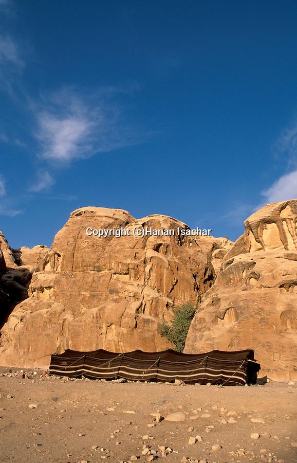 Jordan, a Bedouin tent near Petra&#xA;<br />