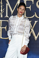 LONDON, UK. November 13, 2018: Vick Hope at the &quot;Fantastic Beasts: The Crimes of Grindelwald&quot; premiere, Leicester Square, London.<br /> Picture: Steve Vas/Featureflash