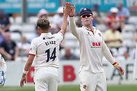Aaron Beard of Essex celebrates taking the wicket of Tim Groenewald during Essex CCC vs Somerset CCC, Specsavers County Championship Division 1 Cricket at The Cloudfm County Ground on 25th June 2019
