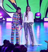 LOS ANGELES, CA - MARCH 24: Storm Reid and Hailee Steinfeld appear on the Nickelodeon Kids Choice Awards 2018 at The Forum on March 24, 2018 in Los Angeles, California. (Photo by Frank Micelotta/PictureGroup)