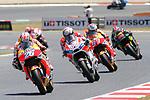 Gran Premi Monster Energy de Catalunya 2017.<br /> Moto GP Race.<br /> Dani Pedrosa, Andrea Dovizioso &amp; Marc Marquez.