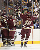 Benn Ferreiro, ?, Mike Brennan, Brian Boyle - The Boston College Eagles defeated the University of Maine Black Bears 4-1 in the Hockey East Semi-Final at the TD Banknorth Garden on Friday, March 17, 2006.