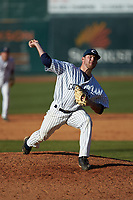 Catawba Indians relief pitcher Nick Coble (34) in action against the Wingate Bulldogs at Newman Park on March 19, 2017 in Salisbury, North Carolina. The Indians defeated the Bulldogs 12-6. (Brian Westerholt/Four Seam Images)