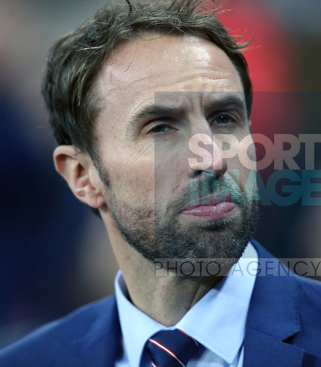 England's Gareth Southgate looks on during the friendly match at Wembley Stadium, London. Picture date November 15th, 2016 Pic David Klein/Sportimage