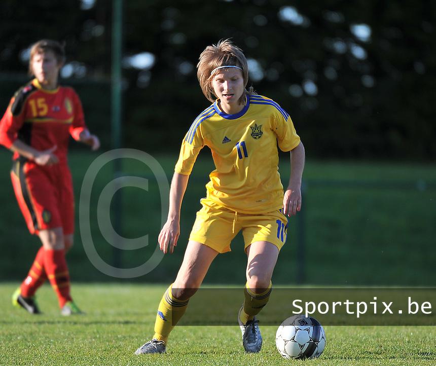 Belgium - Ukraine :  Valeriia Aloshycheva (11)<br /> foto DAVID CATRY / Nikonpro.be