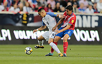 Harrison, N.J. - Friday September 01, 2017:  Bobby Wood, Johnny Acosta during a 2017 FIFA World Cup Qualifying (WCQ) round match between the men's national teams of the United States (USA) and Costa Rica (CRC) at Red Bull Arena.
