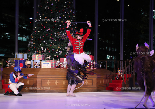 "November 10, 2016, Tokyo, Japan - The K Ballet Company dancers perform as they attend the light-up ceremony of a large Christmas tree at the Marunouchi building in Tokyo on Thursday, November 10, 2016. The Marunouchi area started illumination and decoration with motif of ballet dance Tchaikovsky's ""Nutcracker"" through the Christmas Day.  (Photo by Yoshio Tsunoda/AFLO) LWX -ytd-"