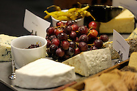 Cheese and grapes in one of the hospitality suites during the Premier League match between Swansea City and Chelsea at The Liberty Stadium on September 11, 2016 in Swansea, Wales.
