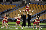 The Counties Manukau Cheerleaders perform before the Air NZ Cup rugby game between Counties Manukau Steelers and Manawatu at Mt Smart Stadium on the 22nd of September, 2006.