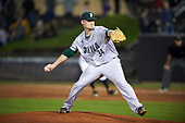 Siena Saints relief pitcher Matt Pierce (34) during a game against the UCF Knights on February 17, 2017 at UCF Baseball Complex in Orlando, Florida.  UCF defeated Siena 17-6.  (Mike Janes/Four Seam Images)