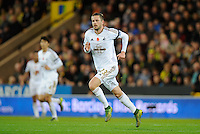Gylfi Sigurosson of Swansea City during the Barclays Premier League match between Norwich City and Swansea City played at Carrow Road, Norwich on November 7th 2015