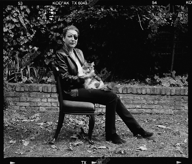 Marie Colvin, journalist working for The Sunday Times, killed in Homs, Syria, February 22, 2012. Photographed by Don McCullin at her home in Notting Hill Gate, London, UK, 2005