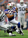 21 September 2008: Buffalo Bills' wide receiver Josh Reed pulls in an 18-yard reception in the 4th quarter against the Oakland Raiders at Ralph Wilson Stadium in Orchard Park, NY. The Bills rallied for 10 unanswered points in the 4th quarter to defeat the Raiders 24-23 marking their first 3-0 start of the season since 1992...Mandatory Photo Credit: Ed Wolfstein Photo