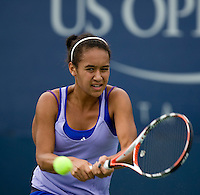Heather Watson (GBR) (11) against Annika Beck (GER) in the third round of the Junior Girl's Singles. Watson beat Beck 6-4 7-5..International Tennis - US Open - Day 11 Thu 10 Sep 2009 - USTA Billie Jean King National Tennis Center - Flushing - New York - USA ..© Frey Images, Barry House, 20-22 Worple Road, London, SW19 4DH.Tel - +44 20 8947 0100.Cell - +447843 383 012.Email - mfrey@advantagemedianet.com