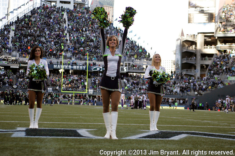 Seattle Seahawks  Seagals perform during their game game with the Minnesota Vikings at CenturyLink Field in Seattle, Washington on  November 17, 2013.  The Seahawks beat the Vikings 41-20.  ©2013.  Jim Bryant. All Rights Reserved.