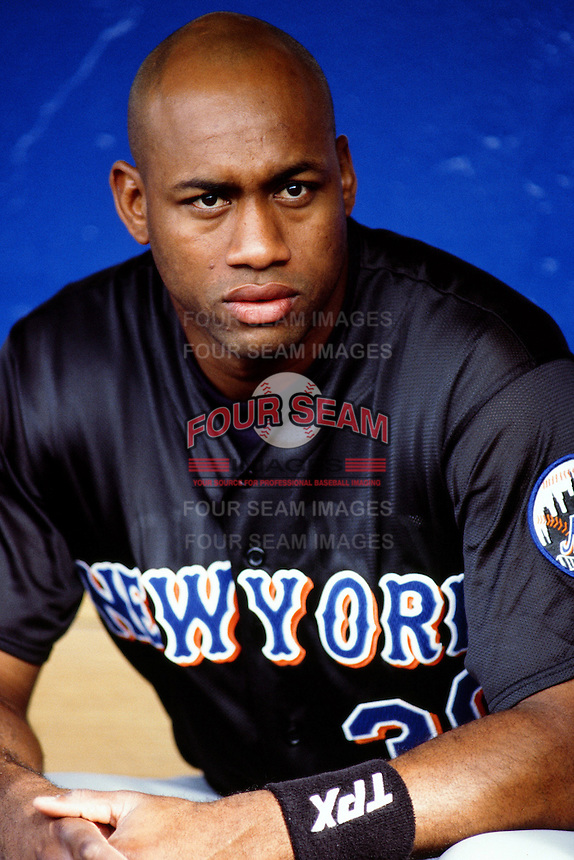Jorge Toca of the New York Mets during a game against the Los Angeles Dodgers at Dodger Stadium circa 1999 in Los Angeles, California. (Larry Goren/Four Seam Images)