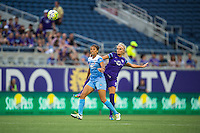 Orlando, FL - Saturday July 16, 2016: Cara Walls, Kaylyn Kyle during a regular season National Women's Soccer League (NWSL) match between the Orlando Pride and the Chicago Red Stars at Camping World Stadium.