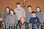 Students from Foyle NS who made their confirmation in St Patrick's church Ballydesmond on Friday front row l-r: Linda Jones, Sandra Jones, Daniel Jones, Bishop Bill Murphy, Sean Kearney, James Kearney and Joanne McSweeney   Copyright Kerry's Eye 2008