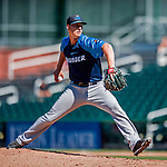 18 July 2018: Trenton Thunder pitcher Brian Keller on the mound against the New Hampshire Fisher Cats at Northeast Delta Dental Stadium in Manchester, NH. The Fisher Cats defeated the Thunder 3-2 in a 7-inning, second game of the day. Mandatory Credit: Ed Wolfstein Photo *** RAW (NEF) Image File Available ***