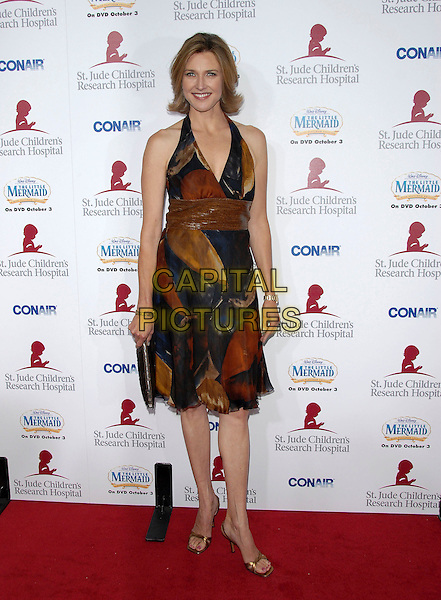 BRENDA STRONG.Attends Runway for Life, Benefiting St. Jude Children's Research Hospital held at The Beverly Hilton Hotel in Beverly Hills, California, USA, September 15th 2006..full length brown patterned print dress.Ref: DVS.www.capitalpictures.com.sales@capitalpictures.com.©Debbie VanStory/Capital Pictures