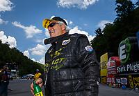 Jun 17, 2017; Bristol, TN, USA; NHRA top fuel driver Chris Karamesines during qualifying for the Thunder Valley Nationals at Bristol Dragway. Mandatory Credit: Mark J. Rebilas-USA TODAY Sports