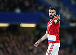 Middlesbrough's Alvaro Negredo in aciton during the Premier League match at Stamford Bridge Stadium, London. Picture date: May 8th, 2017. Pic credit should read: David Klein/Sportimage