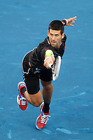 08.05.2012. Madrid, Spain, ATP Mens Madrid Open Tennis Tournament. Match played between Novak Djokovic (SRB) vs Daniel GimenoTraver (SPA) Picture show  Novak Djokovic during match.