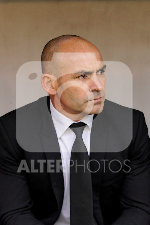 Rayo Vallecano´s coach Paco Jemez during 2014-15 La Liga match between Rayo Vallecano and Malaga CF at Rayo Vallecano stadium in Madrid, Spain. March 21, 2015. (ALTERPHOTOS/Luis Fernandez)