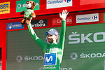 Alejandro Valvede (ESP) Movistar Team retains the Green Jersey at the end of Stage 17 of the La Vuelta 2018, running 186.1km from Ejea de los Caballeros to Lleida, Spain. 13th September 2018.                   <br /> Picture: Unipublic/Photogomezsport | Cyclefile<br /> <br /> <br /> All photos usage must carry mandatory copyright credit (&copy; Cyclefile | Unipublic/Photogomezsport)