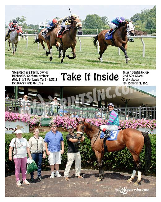 Take It Inside winning at Delaware Park on 8/9/14