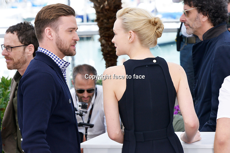 "Justin Timberlake (Actor) and Carey Mulligan (Actress) attending the ""INSIDE LLEWYN DAVIS"" Photocall during the 66th annual International Cannes Film Festival in Cannes, France, 19th May 2013. Credit: Timm/face to face"