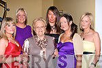 FRIENDS: Friends meet up at the Kerins Park, Tralee first social on Saturday night in the Brandon Hotel, Tralee. L-r: Martina Donnelly, Louise and Mamie O'Shea, Louise, Nicole and Samantha Quirke..........