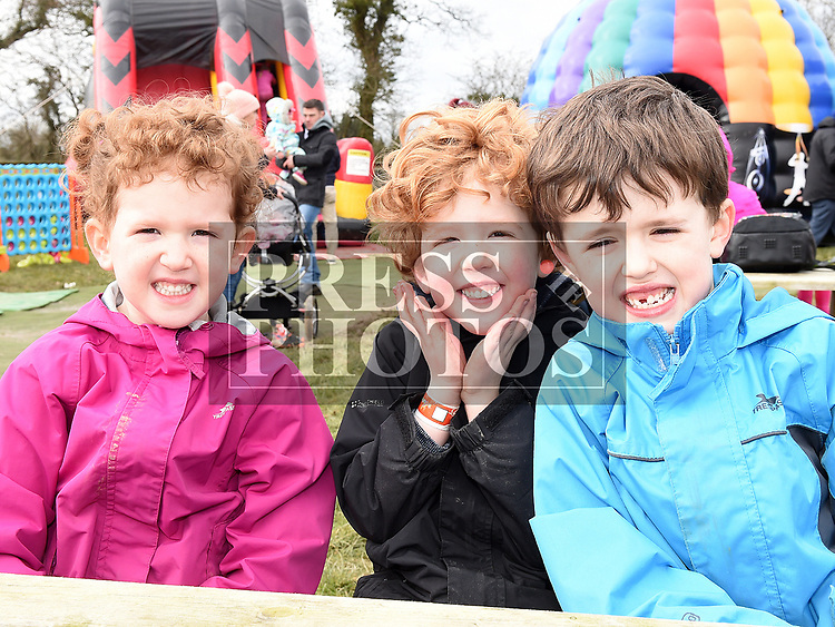 Megan, Ben and Sam O'Brien at the Easter Egg Hunt at the Millitary and War Museum at Collon. Photo:Colin Bell/pressphotos.ie