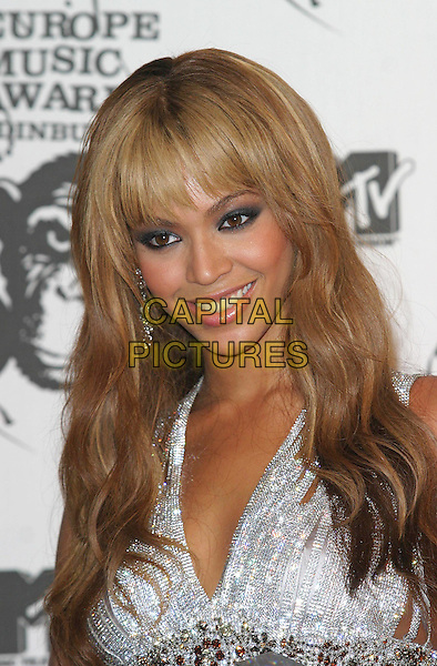 BEYONCE KNOWLES.MTV Europe Music Awards 2003 Held At The Western Harbour, Leith, Edinburgh, Scotland.Ref: Ten.headshot, portrait.www.capitalpictures.com.sales@capitalpictures.com.©Capital Pictures