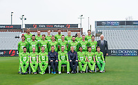 Picture By Allan McKenzie/SWpix.com - 11/04/18 - Cricket - Lancashire County Cricket Club Photo Call Media Day 2018 - Emirates Old Trafford, Manchester, England - Lancashire County Cricket Club Team Photo 2018 with Hill Dickinson.