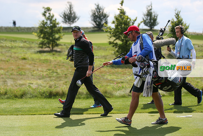 Jamie Donaldson (WAL) tracked by the TV during the Final Round of the D&D Real Czech Masters 2014 from the Albatross Golf Resort, Vysoky Ujezd, Prague. Picture:  David Lloyd / www.golffile.ie