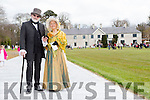 Lord and Lady Kenmare aka Rev Simon Lumby and Christel Nolke all dressed up at the opening of Killarney House and gardens on Sunday