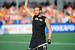 The Hague, Netherlands, June 01: Alex Shaw #19 of New Zealand gestures during the field hockey group match (Men - Group B) between the Black Sticks of New Zealand and Korea on June 1, 2014 during the World Cup 2014 at GreenFields Stadium in The Hague, Netherlands. Final score 2:1 (1:0) (Photo by Dirk Markgraf / www.265-images.com) *** Local caption ***