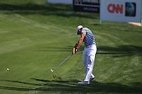 Rafael Cabrera-Bello (ESP) in action on the 8th hole during Sunday's Final Round of the 2012 Omega Dubai Desert Classic at Emirates Golf Club Majlis Course, Dubai, United Arab Emirates, 12th February 2012(Photo Eoin Clarke/www.golffile.ie)